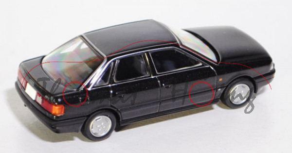 Audi 90 2.3E (B3, Typ 89), Modell 1987-1991, schwarz metallic, TOMYTEC, 1:64, mb
