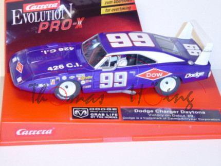 Dodge Charger Daytona, violett, Victory on Debut \'69, Nr. 99, Carrera EVOLUTION PRO-X, 1:32, nur fü
