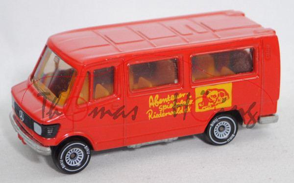 Mercedes-Benz 208 (Mod. 77-82) Bus, rot, Abenteuer-/spielplatz/Riederwald/SJD-Die Falken/SPIELMOBIL