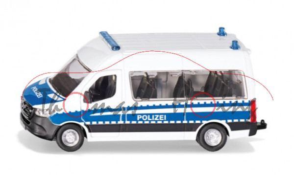 00000 Mercedes-Benz Sprinter Kombi Hochdach Bundespolizei, weiß/blau, POLIZEI, L17mpK ab ca. 4/21 da