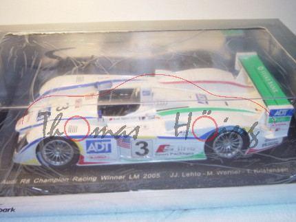 Audi R8, 24h Le Mans 2005, 1. Platz, Lehto/Werner/Kristensen, Nr. 3, Spark, 1:18, mb