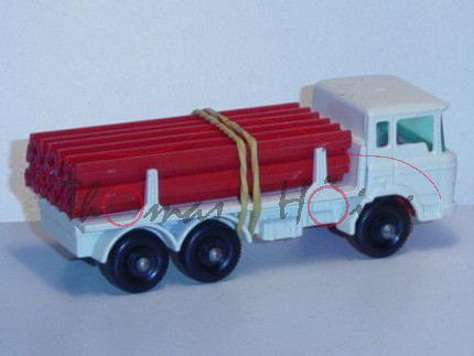 DAF Girder Truck, perlweiß, mit 12 Leitplanken, Matchbox Series