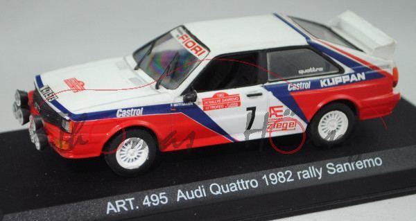 Audi quattro Gruppe 4, Rallye Sanremo 1982, Wittmann / Diekmann, Nr. 7, Detail Cars®, 1:43, PC-Box