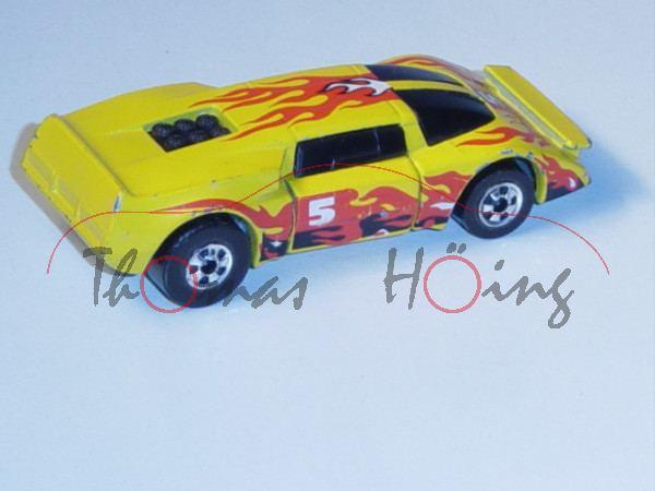 crash car gelb nr 5 mit flammendesign rechte t r. Black Bedroom Furniture Sets. Home Design Ideas