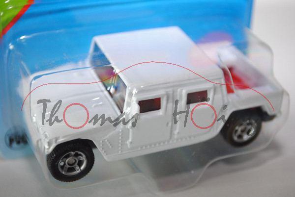 00005 SIKU CANYON (vgl. Hummer H1 Typ 4-door open top, Modell 1992-2006), reinweiß, innen rot, Lenkr