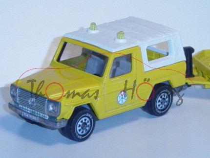 03901 Mercedes 280 GE (Typ W 460) ADAC-Abschleppdienst, Modell 1980-1990, kadmiumgelb, TCS, IE grau,