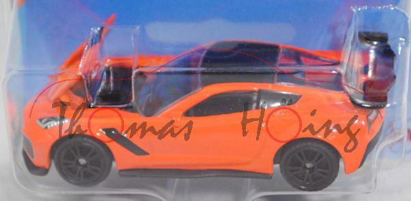 00000 Chevrolet Corvette ZR1 Coupé (Typ C7, Modell 2018-), sebring orange/schwarz, B49, SIKU, P29e