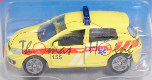 06101 CZ VW Golf VI 2.0 TDI (Typ 1K, Modell 08-12) Ambulance Car, gelb, 155, P29e (Limited Edition)