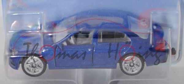 00000 Mercedes-Benz E 350 d, blaumetallic, B47 geschlossen silbergrau, SIKU SUPER, P29e