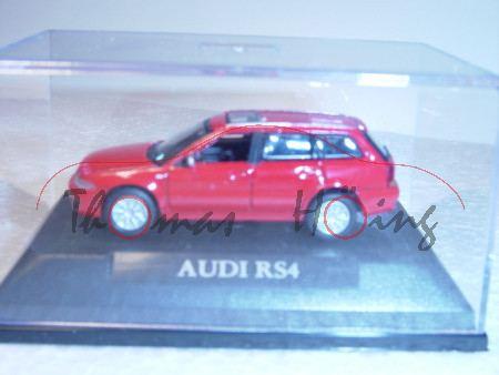 Audi RS4 Avant, Mj 2000, rot, Schuco, 1:72, mb