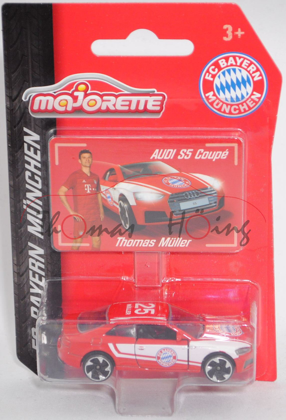 FC BAYERN MUNICH//25//Müller 1:64 MAJORETTE 212053059 Audi s5 Coupé