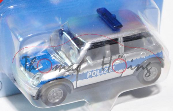 00001 MINI Cooper (Hatchback, Typ R50, 1. Generation, Modell 2001-2006) Polizei, weißaluminiummetall