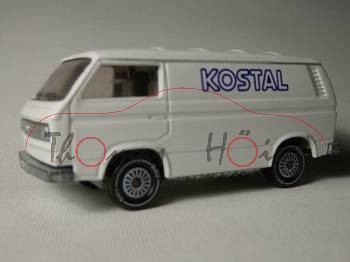 VW Transporter 2,0 Liter (Typ T3), Modell 1979-1982, weiß, IE grau, R11, KOSTAL