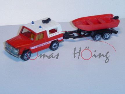 00000 Mercedes 280 GE (Typ W 460, Modell 1980-1990) Feuerwehr-Kommandowagen mit Feuerwehrboot, verke