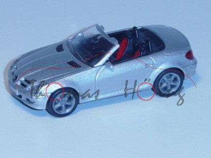 00000 Mercedes-Benz SLK 350 (Baureihe R 171), Modell 2004-2008, silber, innen schwarz/rot