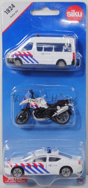 00300 NL Police Set mit: Mercedes-Benz Sprinter II + BMW R1200 GS + Dodge Charger SXT, P29e Limited