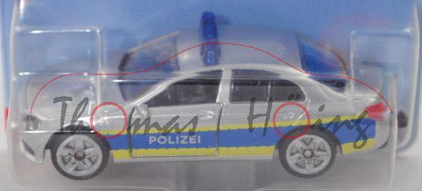 00002 MB E 350 d (W 213, Mod. 2016-2017) Polizei-Streifenwagen, weißalu, hohe Blaulichtleiste, P29e