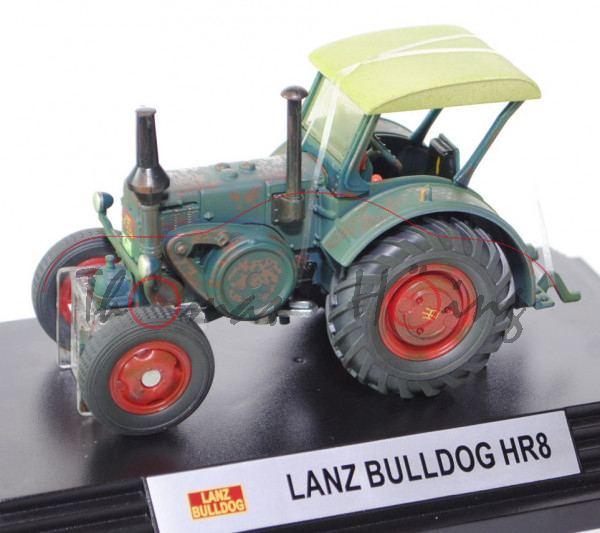 Lanz Verkehrsbulldog HR8, moosgrün, gealterte Ausführung, SIKU CLASSIC+, PC-Box