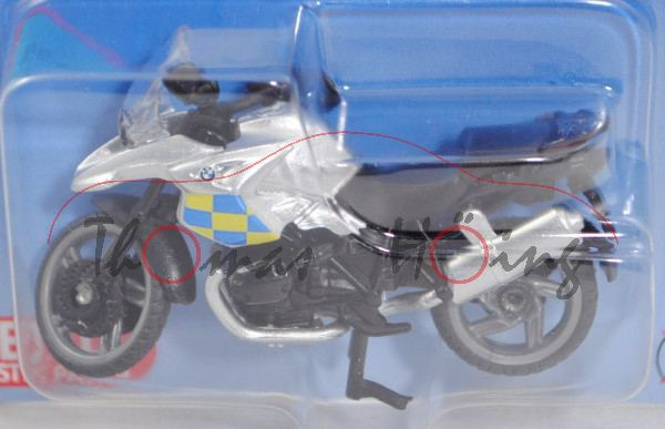 00600 GB BMW R1200 GS (Typ K25, Mod. 04-12) Police Motorbike, weißaluminium, blau/gelbe Karos, P29e