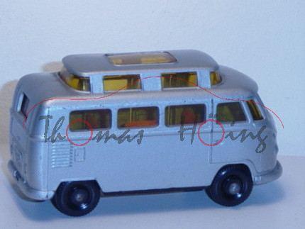 Volkswagen Camper Typ T1, silbergraumetallic, Hochdach mit Verglasung seitlich, Matchbox Series