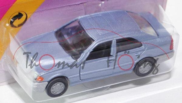 00001 Mercedes-Benz C 220 (Baureihe W 202, Baumuster 111.961, Modell 1993-1995), hell-taubenblaumeta