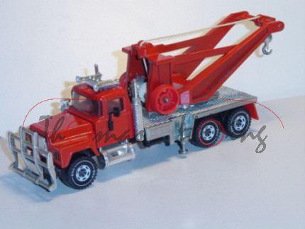 Mack Conventional R612 (Modell 1966-1990) Abschleppwagen, verkehrsrot, Handrad verkehrsrot, Verglasu