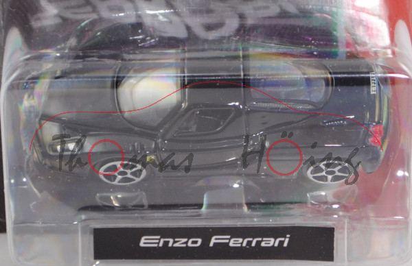 Ferrari Enzo Ferrari (Modell 2002-2004), schwarz, Bburago FERRARI RACE & PLAY, 1:64er Serie, Blister