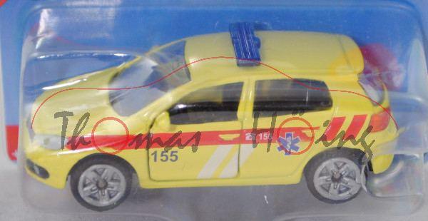 06100 CZ VW Golf VI 2.0 TDI (Typ 1K, Modell 08-12) Ambulance Car, gelb, 155, P29e (Limited Edition)
