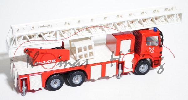 00802 Mercedes Atego Feuerwehrdrehleiter, verkehrsrot/cremeweiß, LKW-Radkasten rot, FALCK / ALARM /