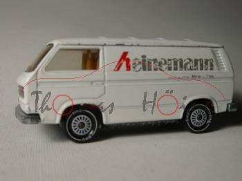 VW Transporter 2,0 Liter (Typ T3), Modell 1979-1982, weiß, IE gelb, R11, heinemann, Drucke vsc