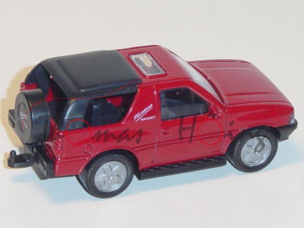 00000 Opel Frontera 2.0i Sport (Typ A, 1. Generation, Dreitürer, Modell 1991-1995), rubinrot, innen