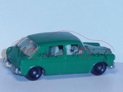 MG 1100, dunkel-minzgrün, mit Fahrer+Hund auf der Rückbank, mit Anhängerkupplung, Matchbox Series