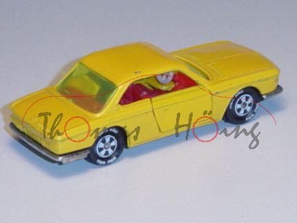 BMW 2000 CS, Modell 1965-1970, kadmiumgelb, innen rot, Lenkrad weiß, Verglasung gelb, R10, Lackfehle