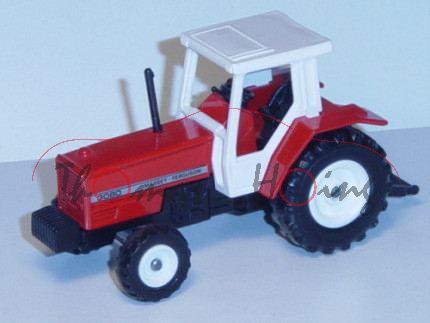 Massey Ferguson 3080 2WD Traktor (Modell 1986-1988), verkehrsrot, Sitz schwarz, Lenkrad schwarz, Kab