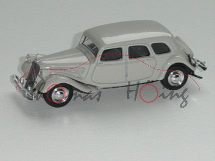 Citroen Traction 15-Six, hell-kieselgrau, Felgen chrom, 1:58, Norev RETRO, mb