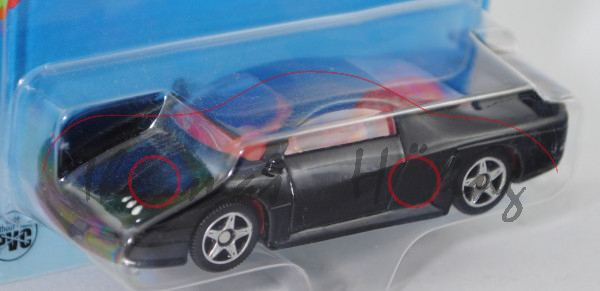 00006 SIKU STORM (vgl. Saleen S7, Modell 2000-2008), schwarz, innen karminrot, Lenkrad karminrot, B2