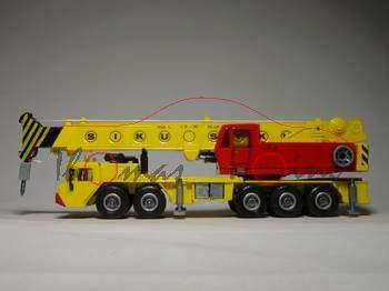 Faun Hydraulischer Kran, signalgelb/verkehrsrot, SIKU SIKU / max. L. < 0°-90° 60 cm, LKW13 glatt, L1