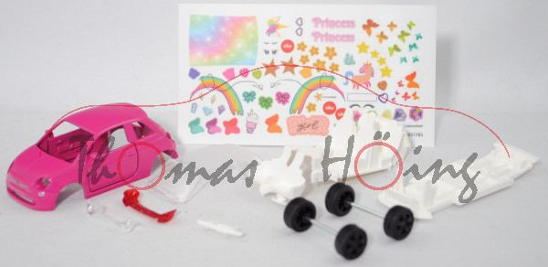 00000 Bastelset Fiat 500 1.2 8V (Mod. 07-15) Prinzessin, erikaviolett, SIKU, mb (Limited Edition)