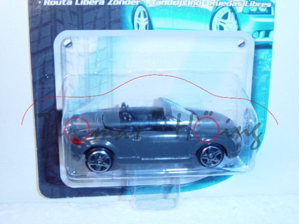 Audi TT Roadster, Mj. 99, grau, innen schwarz, Maisto, 1:72, mb