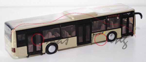 03800 Stadtbus MAN Post-Bus, goldgrünmetallic, POSTBUS / Ein Unternehmen der ÖBB, L17mpK, A