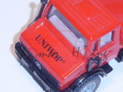 Unimog U 1500 (Baureihe 425), Modell 1975-1988, verkehrsrot/schwarz, UNIWOP®, LKW12
