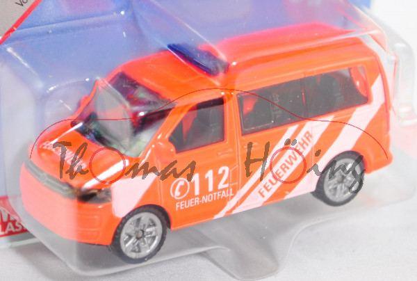 00006 VW T5 facelift Multivan (Mod. 09-15) Feuerwehr-Einsatzleitwagen, d.-leuchthellrot, C 112, P29e