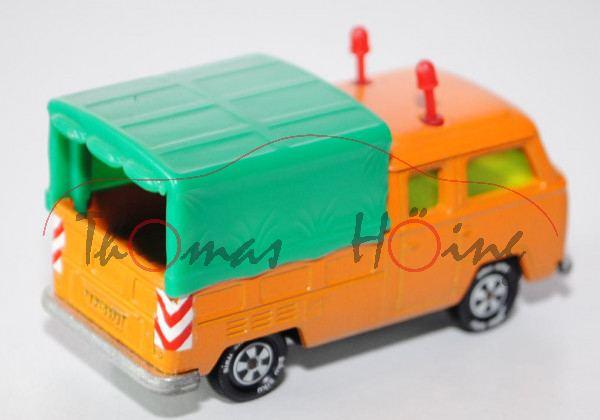 00000 VW DoKa Doppelkabine Pritschenwagen (Typ T2a, Modell 1967-1971) Autobahn-Streckenwagen, gelbor