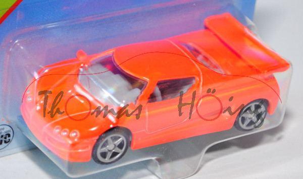 00000 SIKU MAGMA (vgl. Koenigsegg CCR, Modell 2003-2005), leuchtorange, innen lichtgrau, Lenkrad lic