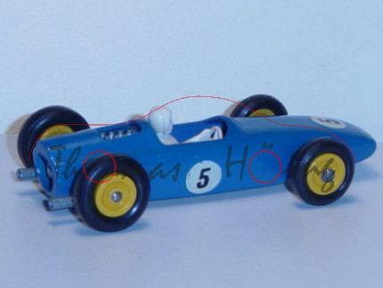 BRM Racing Car, capriblau, mit Fahrer, Nr. 5, Matchbox Series