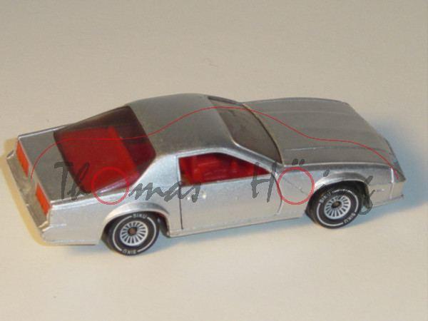00000 Chevrolet Camaro Z28 (3. Generation, Modell 1982-1985), silbergraumetallic, innen verkehrsrot,