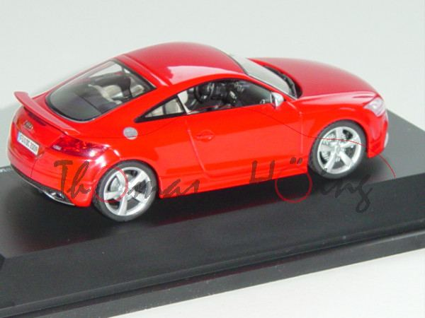 Audi TT RS Coupe, Mj. 2009, rot, IAA 2009, Schuco, 1:43, Limited Edition 777 Stück, PC-Box