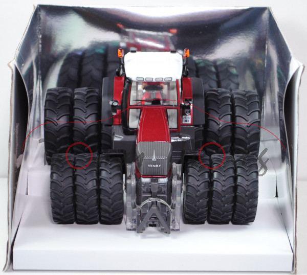 00409 Fendt 924 Vario TMS Traktor (Mod. 2002-2006) mit Drillingsbereifung, purpurrotmetallic/dunkel-