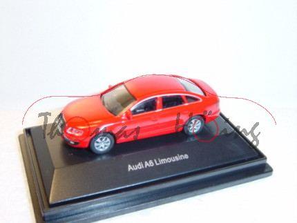 Audi A6, rot, Mj 2004, Schuco, 1:72, PC-Box