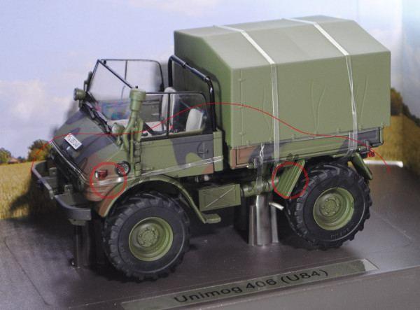 unimog 406 cabrio u84 bundeswehr mit abnehmbaren klappverdeck und plane 1971 1989. Black Bedroom Furniture Sets. Home Design Ideas